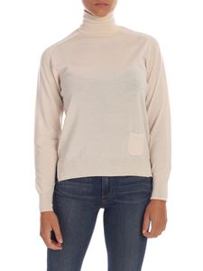 Elisabetta Franchi - Cream-colored turtleneck with pocket