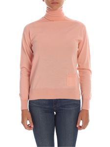 Elisabetta Franchi - Pink turtleneck with pocket
