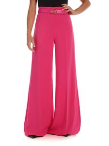 Elisabetta Franchi - Palazzo trousers in fuchsi with belt
