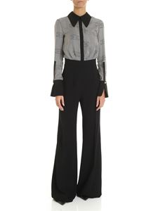 Elisabetta Franchi - Black and white striped jumpsuit