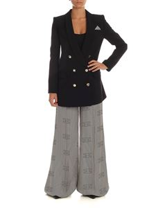 Elisabetta Franchi - Black suit with striped trousers