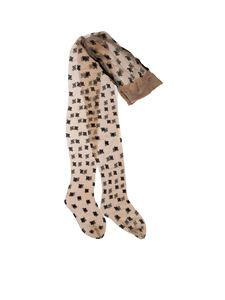 Fendi - FF Karligraphy stockings in beige