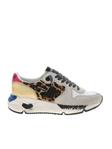 Golden Goose Deluxe Brand - Running Sole sneakers in grey and animal print