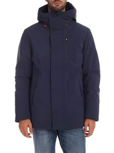 Save the duck - Blue down parka jacket with logo