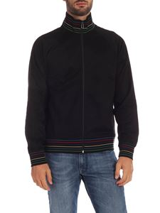 PS by Paul Smith - Black sweatshirt with multicolor branded edges
