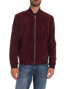 Paul Smith - Bomber jacket in burgundy color with logo edges