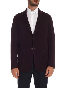 Paul Smith - Wine-colored jacket with leather edges