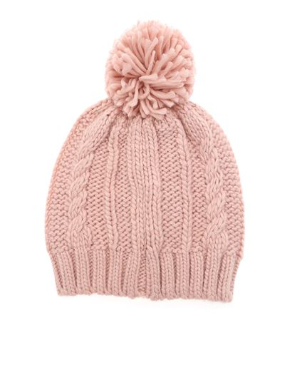 Colmar - Honey beanie in pink with logo