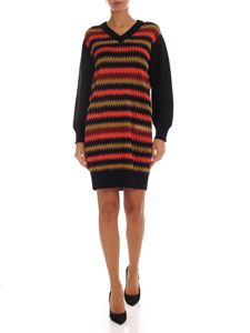 M Missoni - Black dress with contrasting pattern