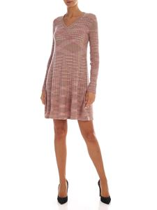 M Missoni - Pink and green virgin wool dress