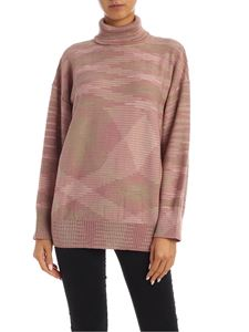 M Missoni - Oversize pullover in pink and green