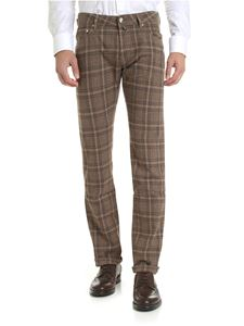 Jacob Cohën - Beige trousers with checked pattern