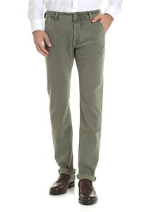 Jacob Cohën - Trousers in army green diagonal fabric