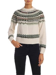 M Missoni - Pullover in ivory color with reverse knitting
