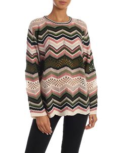 M Missoni - Multicolor chevron pattern pullover