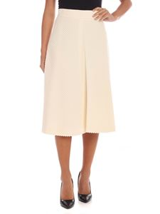 M Missoni - Flared skirt in ivory color