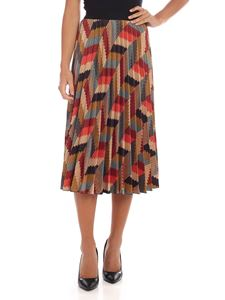 M Missoni - Pleated skirt in multicolor alcantara