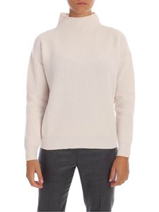Peserico - Turtleneck pullover in ivory color