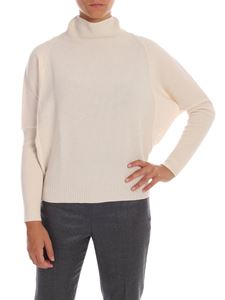Peserico - Pink pullover with moss stitch detail