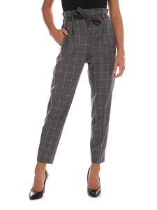 Peserico - Grey trousers with checked pattern