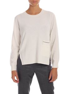 Fabiana Filippi - White pullover with patch pockets
