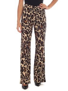 Diane von Fürstenberg - Beige and black Caspian trousers