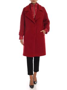 Herno - Red coat with tone on tone bib