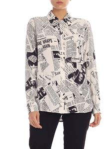 Diane von Fürstenberg - Lorelei Two shirt in white and black