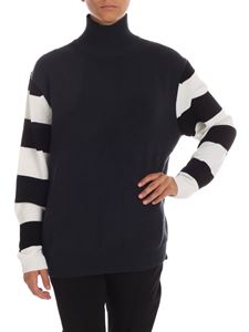 Paul Smith - Grey pullover with striped sleeves