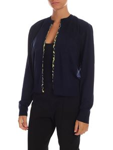 Paul Smith - Blue cardigan with animalier lining