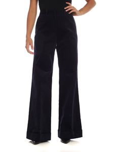 PS by Paul Smith - Dark blue palazzo trousers