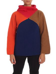 PS by Paul Smith - Blue pullover with geometric pattern