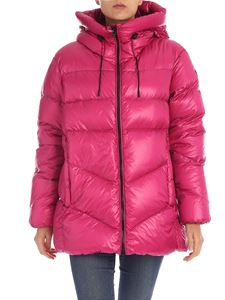 Woolrich - Packable Birch down jacket in cyclamen