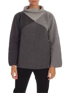 PS by Paul Smith - Pullover with grey geometric pattern