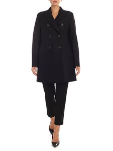 Harris Wharf London - Coat in black woolen cloth