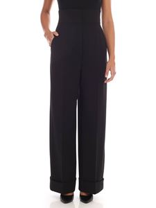 Alberta Ferretti - Black trousers with turned-up bottom