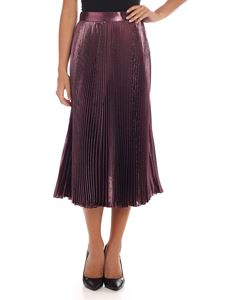 Alberta Ferretti - Purple pleated skirt