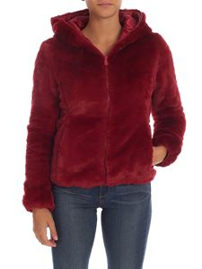 Save the duck - Padded eco-fur in burgundy color