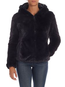 Save the duck - Padded eco-fur in blue