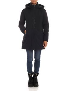Save the duck - Hodeed down jacket in black