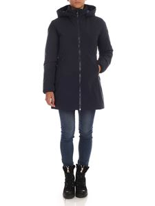 Save the duck - Dark blue down jacket with hood