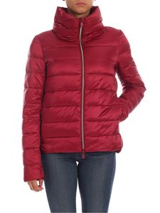 Save the duck - Quilted-effect down jacket in burgundy