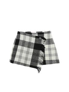 Il Gufo - Checked miniskirt in gray and black