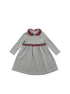 Il Gufo - Gray dress with tartan details