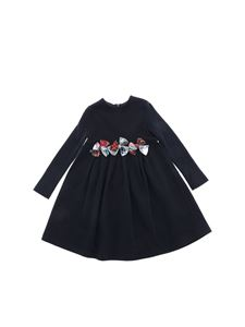 Il Gufo - Blue dress with tartan bows