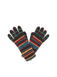 Paul Smith - Brown striped gloves