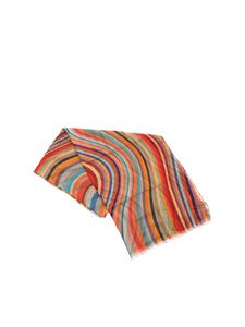 Paul Smith - Scarf with multicolor Artist Stripes pattern