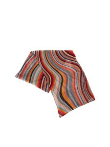 Paul Smith - Scarf with multicolor embossed knitting