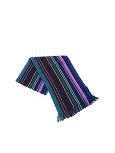 Paul Smith - Blue wool scarf
