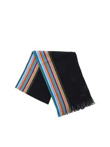 Paul Smith - Sciarpa nera a righe
